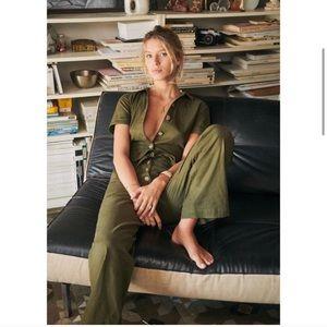 NWT Sezane Margaux Linen Jumpsuit